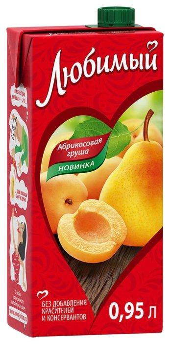 Напиток сокосодержащий Любимый Яблоко-Абрикос-Груша с крышкой, без сахара