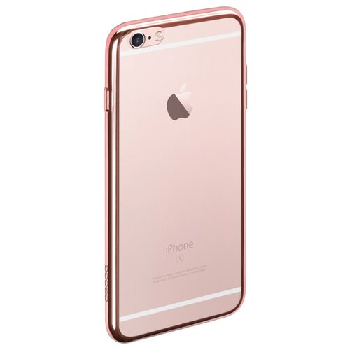 Фото - Чехол-накладка Deppa Gel Plus Case для Apple iPhone 6/iPhone 6S розовый чехол накладка bengamins bj6pfcup для apple iphone 6 plus iphone 6s plus cupcake soft foam
