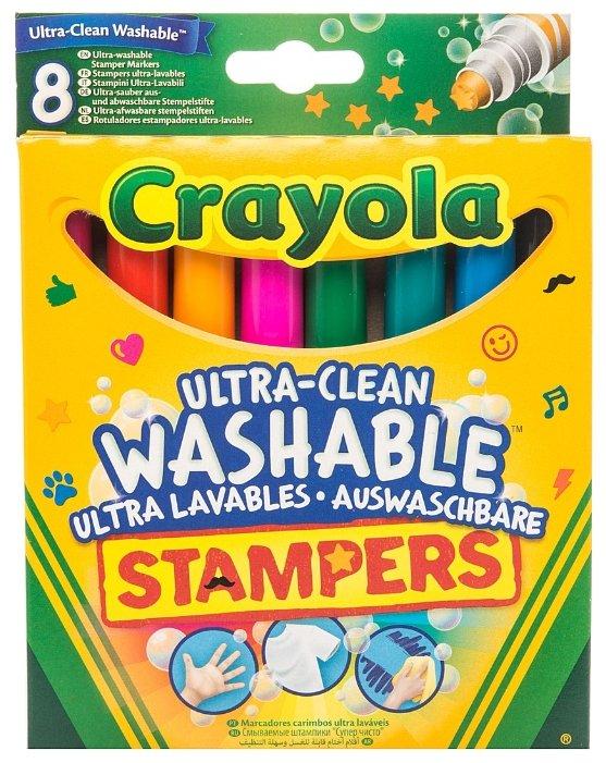 Crayola Фломастеры-штампы смываемые 8 шт. (58-8129)