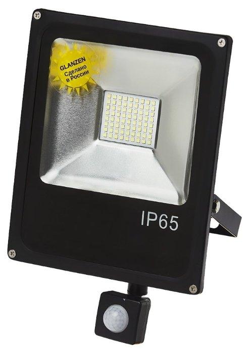 Прожектор светодиодный с датчиком движения 50 Вт Glanzen FAD-0013-50