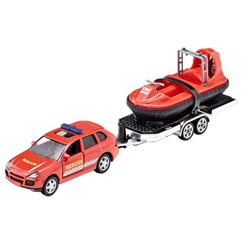 Набор машин Siku Автомобиль и прицеп с лодкой (2549) 1:55 красный, Машинки и техника  - купить со скидкой
