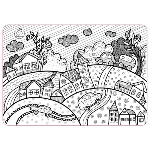 Купить ЯиГрушка Коврик-раскраска Городок (маленький), Раскраски