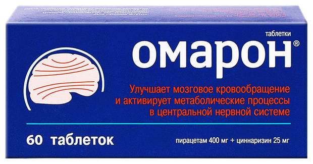 Омарон таб. 400 мг+25мг №60