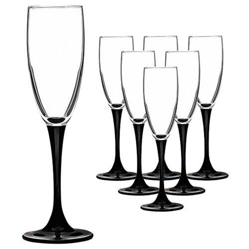 цена на Luminarc Набор фужеров для шампанского Domino 170 мл 6 шт H8167