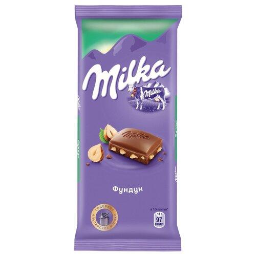 цена Шоколад Milka молочный с фундуком, 90 г онлайн в 2017 году