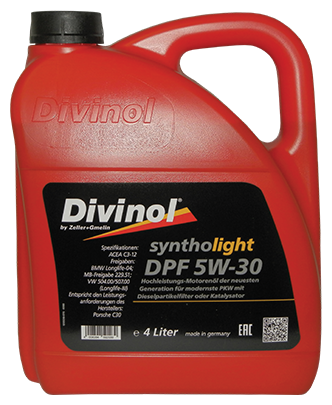 Моторное масло Divinol Syntholight DPF 5W-30 4 л