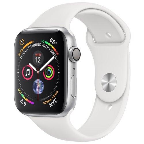 Купить Часы Apple Watch Series 4 GPS 40mm Aluminum Case with Sport Band серебристый/белый