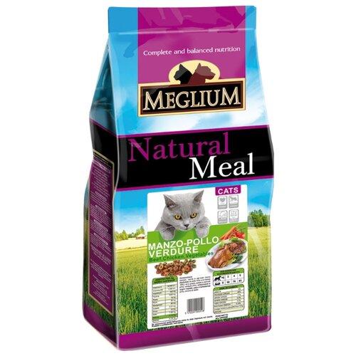 Сухой корм для кошек Meglium с курицей, с говядиной 400 г