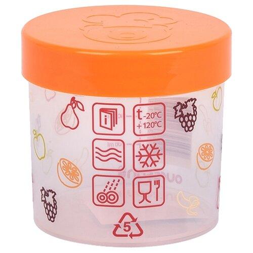 Oursson Банка для жидких и сыпучих продуктов JA55154/OR 500 мл хранение продуктов best home porcelain банка для сыпучих продуктов naturel 500 мл