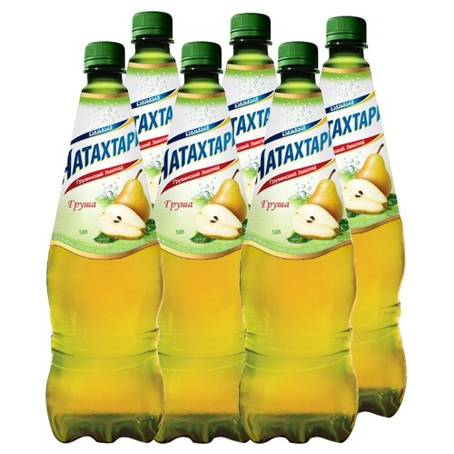 лимонад напитки из черноголовки крюшон 6 шт по 1 л Лимонад Натахтари Груша, 1 л, 6 шт.