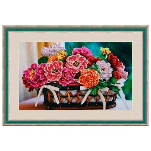 Купить Galla Collection Набор для вышивания бисером Цветочная корзина 35 х 21 см (Л330), Наборы для вышивания