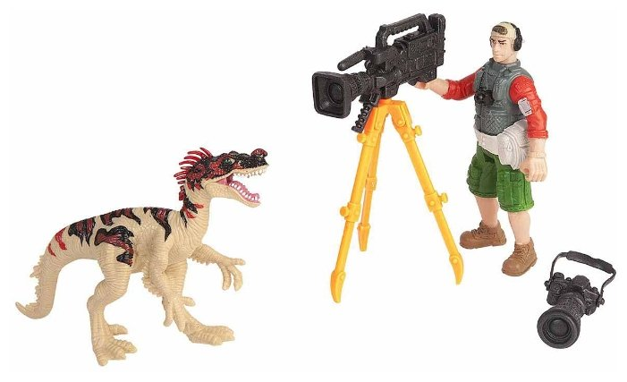 Игровой набор Chap Mei Dino Valley - Эораптор и кинооператор 520007-2