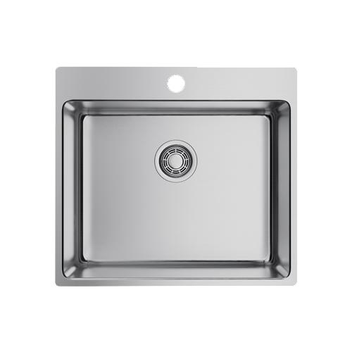 Врезная кухонная мойка 55 см OMOIKIRI Amadare 55-IN 4993718 нержавеющая сталь