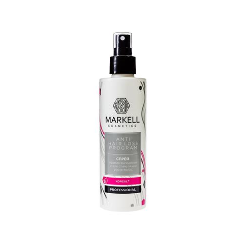 Markell Anti Hair Loss Programm Спрей Против выпадения и для стимуляции роста волос, 200 мл ducray неоптид лосьон от выпадения волос для мужчин 100 мл