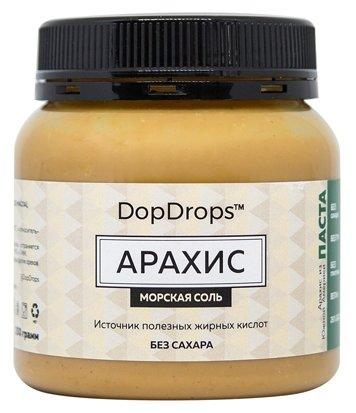 DopDrops Паста ореховая Арахис (морская соль) пластик
