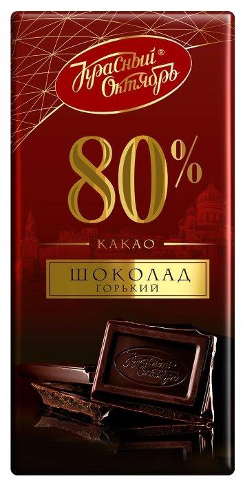 Шоколад Красный Октябрь горький 80%