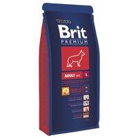 Сухой корм для взрослых собак крупных пород Brit Premium Adult L с курицей 15кг