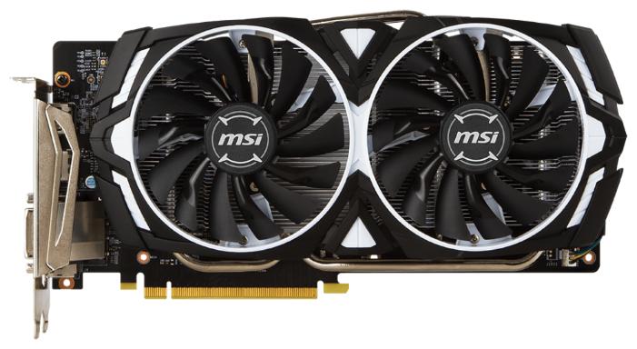 MSI Видеокарта MSI GeForce GTX 1060 1506Mhz PCI-E 3.0 6144Mb 8008Mhz 192 bit DVI 2xHDMI HDCP ARMOR V1