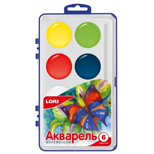 Купить LORI Акварельные краски MAX 6 цветов без кисти (Акв-001), Краски
