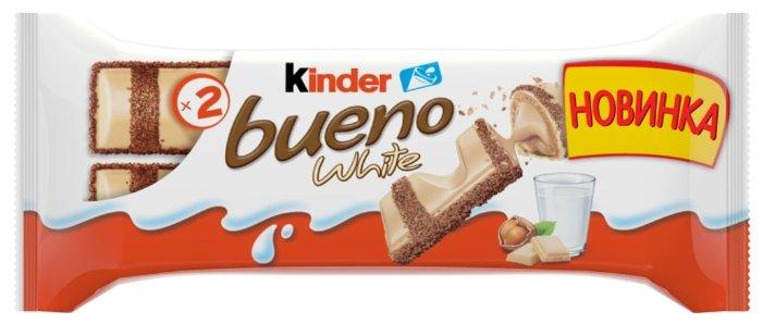 Батончик Kinder Bueno White, 39 г — купить по выгодной цене на Яндекс.Маркете