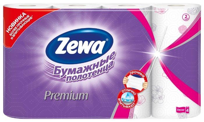 Полотенца бумажные Zewa Premium Декор двухслойные, 2 рул.