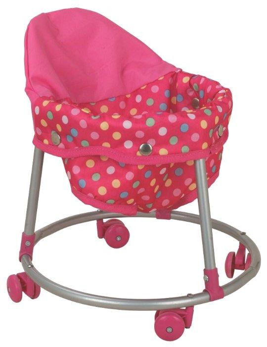Ходунки Buggy Boom Loona 8779-5 розовый в разноцветный горошек