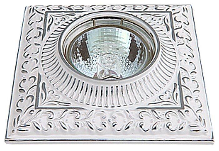 Встраиваемый светильник De Fran FT 1124 SCH, белый с серебром