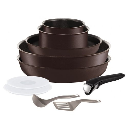 Фото - Набор посуды Tefal Ingenio Chef L6559802 10 пр. коричневый набор посуды tefal ingenio perfomance l6598902 8 предметов