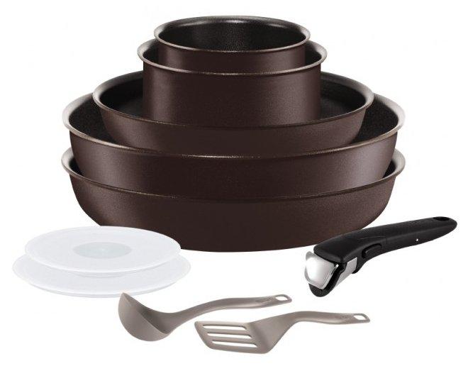 Набор посуды Tefal Ingenio Chef L6559802 10 пр. коричневый