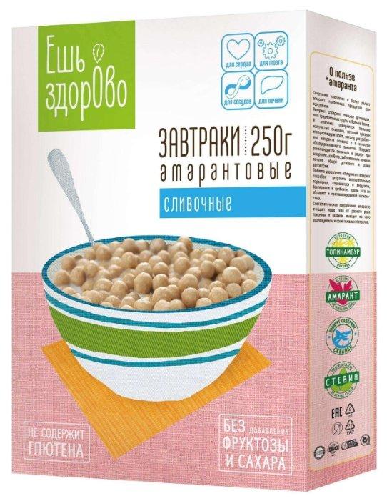 Завтраки амарантовые ЕШЬ здорово с белым шоколадом, 250г.