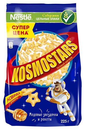 Готовый завтрак Kosmostars Медовые звездочки и ракеты, пакет, 225 г