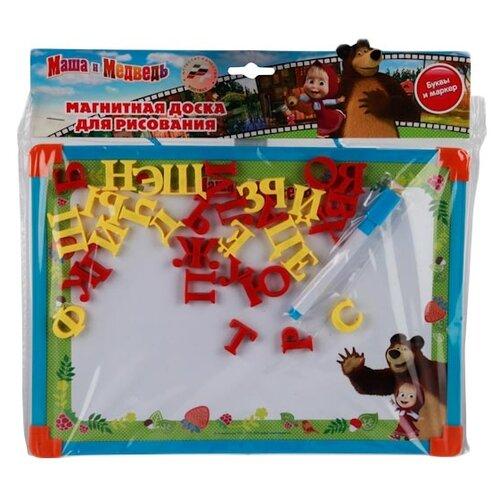 Купить Доска для рисования детская Играем вместе Маша и медведь с русскими буквами (L787-H27560-MB) зеленый, Доски и мольберты