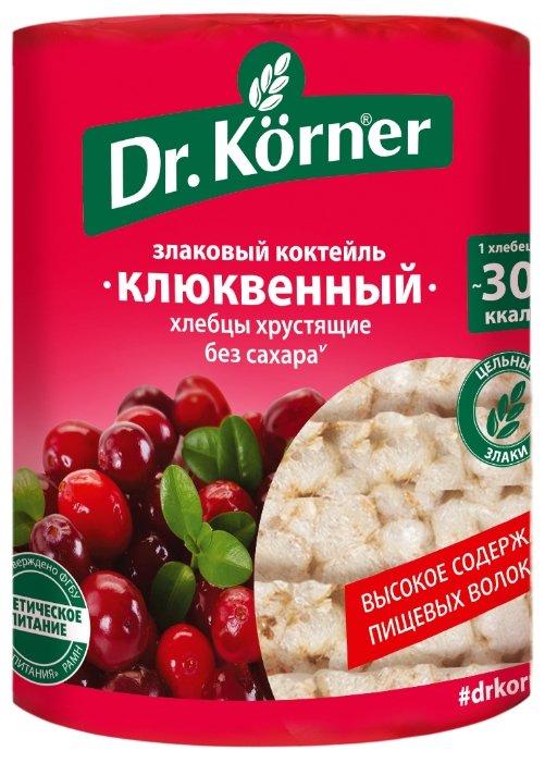 Хлебцы мультизлаковые Dr. Korner злаковый коктейль клюквенный 100 г