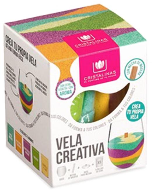 CRISTALINAS Свеча ароматическая разноцветная Креативная, 5 ароматов