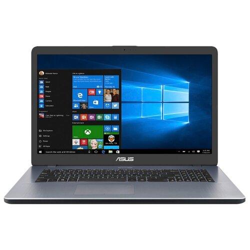 Купить Ноутбук ASUS VivoBook 17 X705UB (Intel Pentium 4417U 2300 MHz/17.3 /1920x1080/4GB/256GB SSD/DVD нет/NVIDIA GeForce MX110/Wi-Fi/Bluetooth/Windows 10 Home) 90NB0IG2-M03590 серый