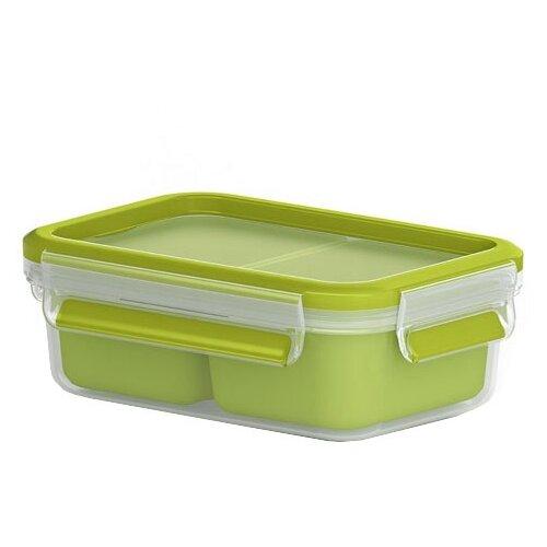 EMSA Контейнер для перекусов 518102 зеленый/прозрачный