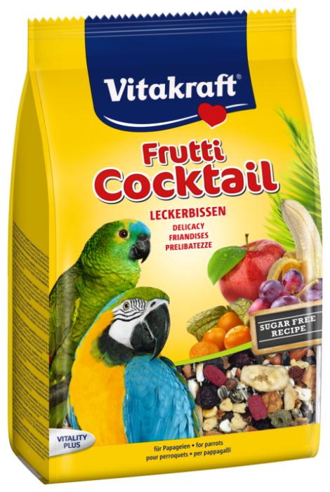 Добавка в корм Vitakraft для крупных попугаев коктейль фруктовый