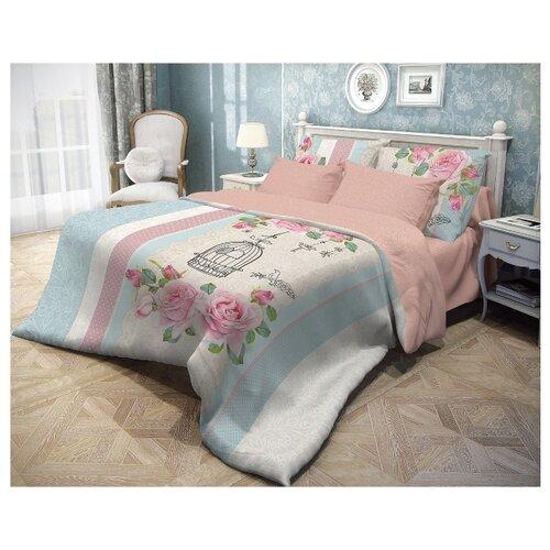 Постельное белье 2-спальное Волшебная ночь Fluid 716250 ранфорс розовый/белый/голубойКомплекты<br>