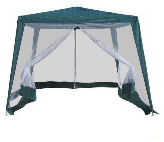 Садовый шатер Афина-мебель AFM-1035NC White (3x3/2.4x2.4)
