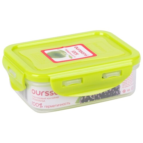 Oursson Контейнер CP0303S, 10x13 см, зеленое яблоко oursson контейнер cp1304s оранжевый прозрачный
