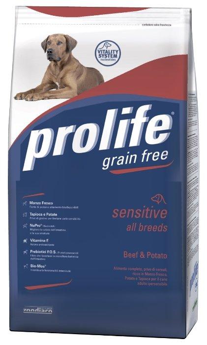 Корм для собак Prolife Adult All Breeds Sensitive с говядиной и картофелем