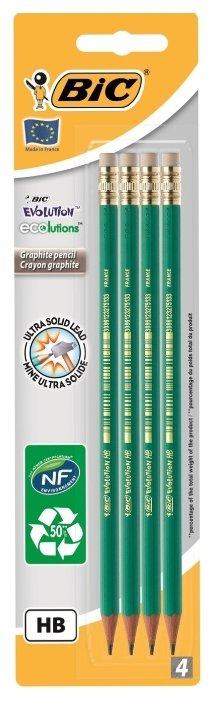 BIC Набор чернографитных карандашей Evolution 655 4 шт (8902752)