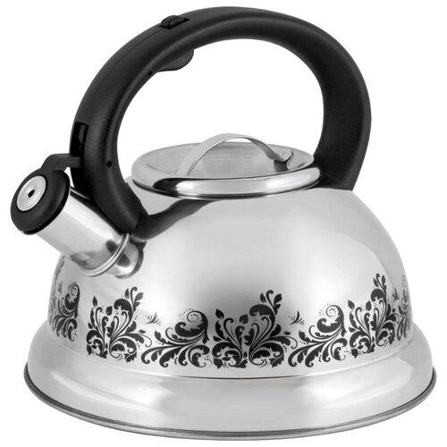 Mallony Чайник 002102/002103/002104 3 л серебристый/черный чайник maestro rainbow mr 1301 серебристый черный 3 5 л