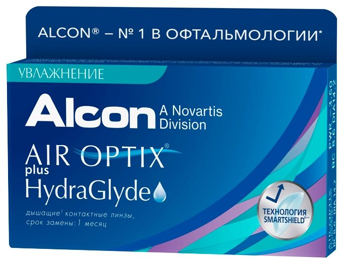 Контактные линзы Alcon Air Optix Plus HydraGlyde (6 линз / 8.6 / -0.5)