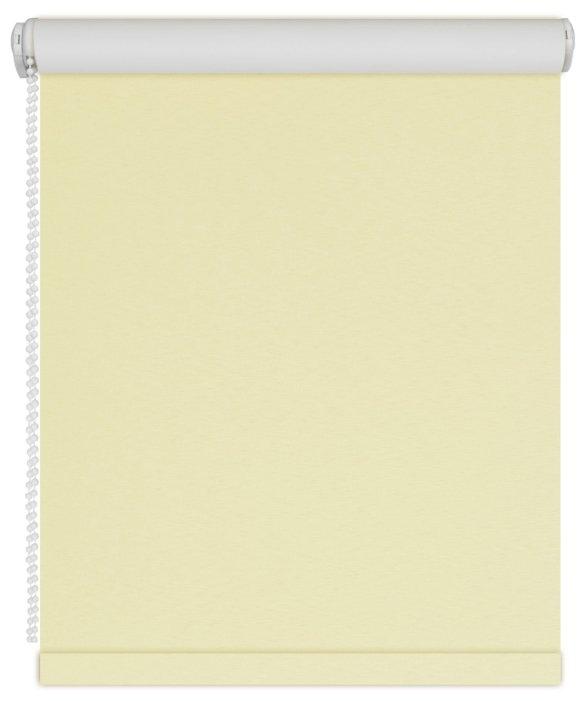 Рулонная штора DDA Светонепроницаемая (лимонный), 37х170 см