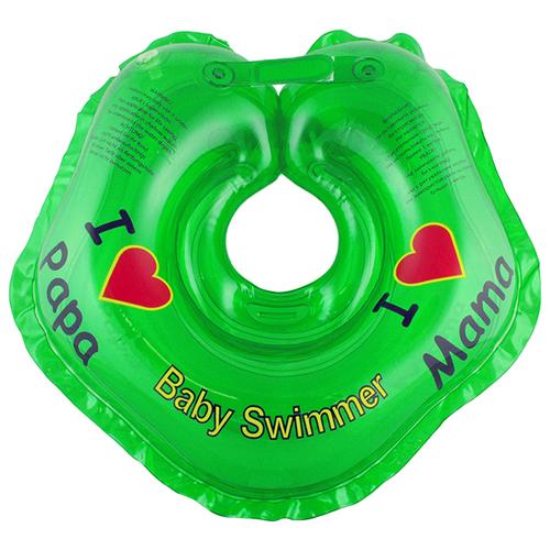 Круг на шею Baby Swimmer 0m+ (3-12 кг) Я люблю зеленый