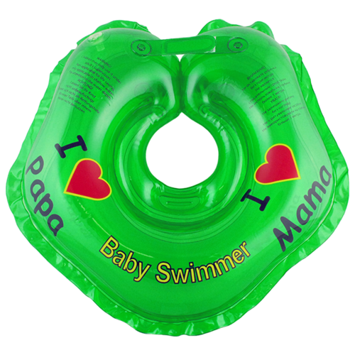 Купить Круг на шею Baby Swimmer 0m+ (3-12 кг) Я люблю зеленый, Круги на шею
