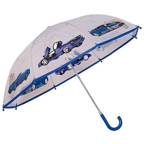 Зонт Mary Poppins прозрачный/синий