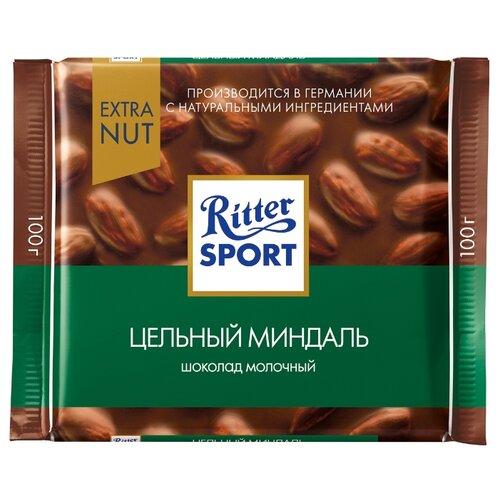 Шоколад Ritter Sport Extra Nut молочный цельный миндаль, 100 г