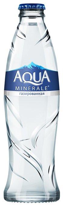 Вода питьевая Аква Минерале газированная, стекло